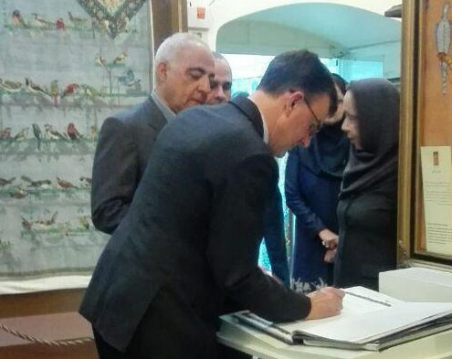 بازدید سفیر کشور استرالیا از موزه فرش رسام عربزاده