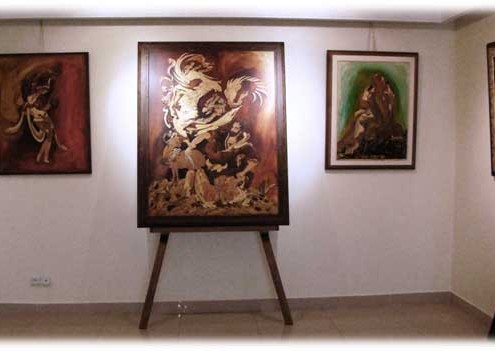 نماهایی از گالری هنری طبقه فوقانی موزه