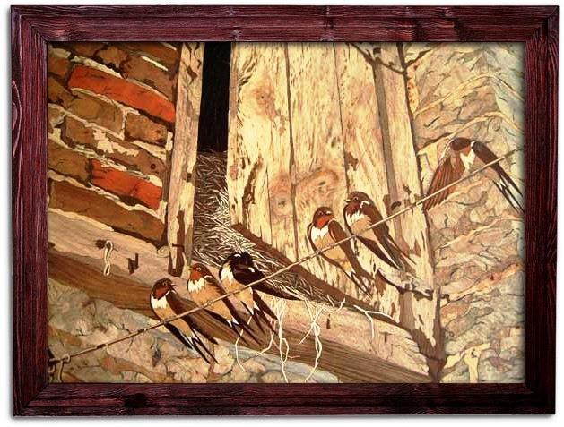 نمایشگاه منبت و معرق روی چوب