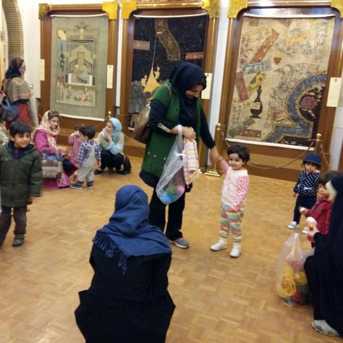 بازدید خردسالان از موزه رسام عربزاده