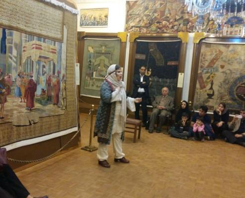 مراسم نقالی شاهنامه خوانی و چکامه خوانی در موزه رسام عربزاده