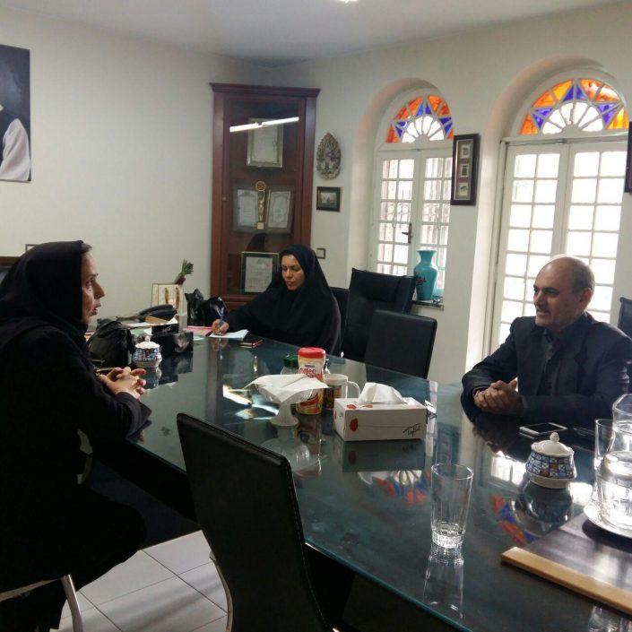 جلسه مدیرعامل بنیادفرهنگی هنری فرش رسام عربزاده ونمایندگان کانون همسران جانبازان اعصاب و روان بنیاد شهید
