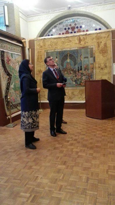 بازدید رسمی سفیر کشور استرالیا وهیئت همراه از موزه فرش رسام عربزاده