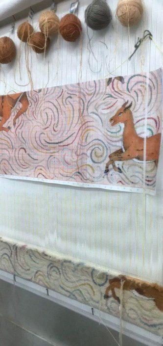بازبافی فرش های موره فرش رسام عربزاده توسط شاگردان آموزشگاه رسام عربزاده