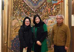 دیدار همسر سفیر کره جنوبی و همراهان از موزه فرش رسام عربزاده